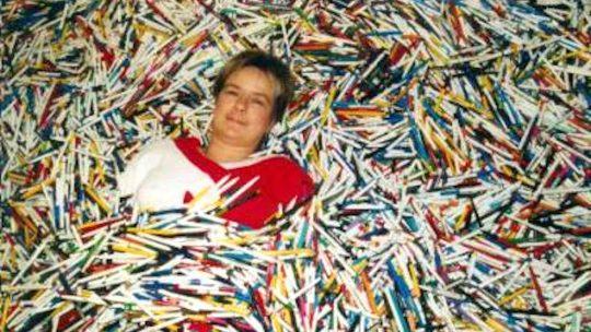 Un raz-de-marée de stylos, littéralement.