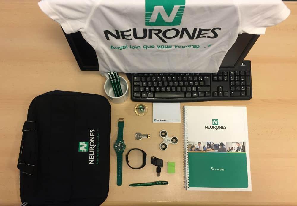 Welcome Pack collaborateur de l'entreprise Neurones