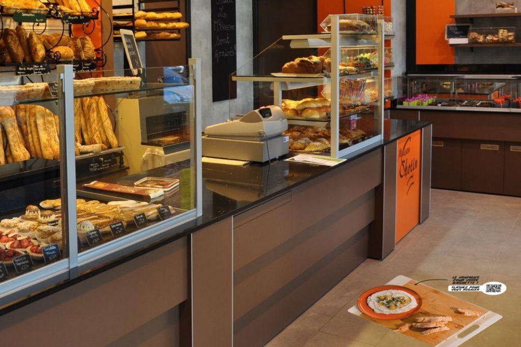 Signalétique dans une boulangerie