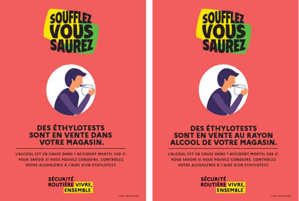 Affiche obligatoire ethylotest | Pandacola